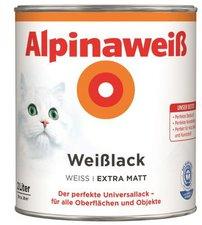 Alpina Farben Alpinaweiß Weißlack 2 l extra matt