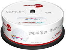 Primeon DVD+R Double Layer Photo-On-Disc ultragloss bedruckbar 25er Spindel