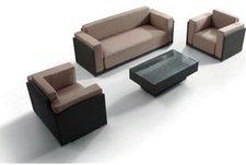 Benedomi Loungegruppe 4-tlg. (Polyrattan)