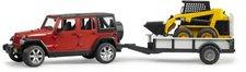 Bruder Jeep Wrangler Unlimited Rubicon mit Einachsanhänger und Cat (02925)
