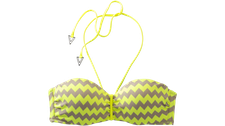 Seafolly Mod Club Bustier Bandeau Top fluorescent yellow