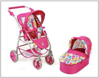 Bayer Chic Puppenwagen Emotion 2in1 - pinky bubbles