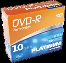 Bestmedia DVD-R Platinum 4,7GB 16x 10er Slimcase (102567)