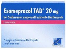 TAD Pharma Esomeprazol Tad 20 mg bei Sodbrennen msr. Hartkapseln (7 Stk.)