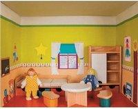 Rülke Puppenhaus im Regal - Kinderzimmer