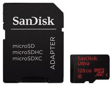 SanDisk Mobile Ultra microSDXC 128GB Class 10 UHS-I (SDSQUNC-128G-GN6MA)