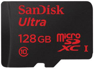 SanDisk Mobile Ultra Android microSDXC 128GB Class 10 UHS-I (SDSQUNC-016G-GN6M5)