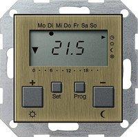 Gira System 55 RTR + Uhr bronze