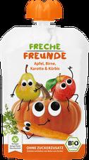 erdbär Freche Freunde zum Quetschen Apfel Birne Karotte & Kürbis(100 g)