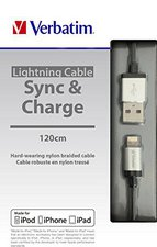 Verbatim Lighting Sync & Charge 120 cm silber