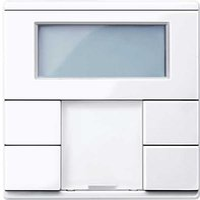 Merten Raumtemperaturregler mit Display aktivweiß glänzend