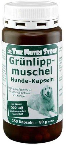 Hirundo Products Grünlippmuschel 500 mg Kapseln f. Hunde (150 Stk.)