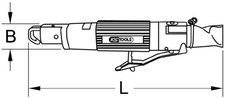 KS Tools SlimPOWER Mini-Druckluft-Karosserie-Stichsäge
