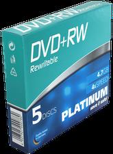 Bestmedia DVD+RW 4,7GB 120min 4x 5er Slimcase