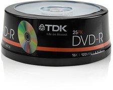 TDK DVD-R 4,7GB 120min 16x 25er Spindel