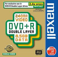 Maxell DVD+R DL 8,5GB 240min 2,4x 1er Jewelcase