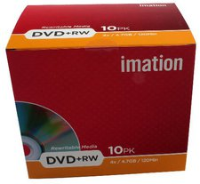 Imation DVD+RW 4,7GB 120min 4x 10er Jewelcase