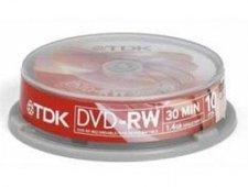 TDK DVD-RW Mini 1,46GB 30min 2x 10er Spindel