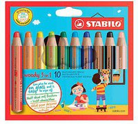 Stabilo Woody 3 in 1 Multitalentstift 10er
