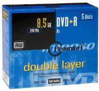 Intenso GmbH DVD+R DL 8,5GB 240min 8x 5er Jewelcase