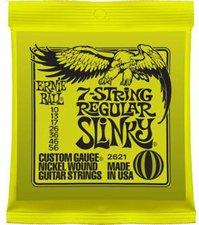 Ernie Ball 7-string Regular Slinky Nickel Wound .010 - .056 Lime Green pack