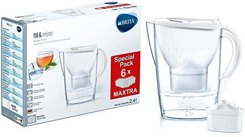 Brita Marella Cool Wasserfilter Weiß + 6 Kartuschen