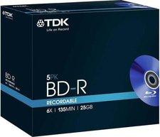 TDK BD-R 25GB 135min 6x 5er Jewelcase