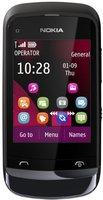 Nokia C2-02 Touch and Type Chrom Schwarz ohne Vertrag