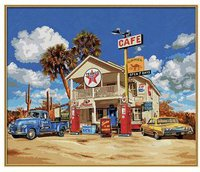 Schipper Malen nach Zahlen Old American Gas Station