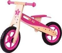 Bigjigs Toys Lauflernrad aus Holz pink