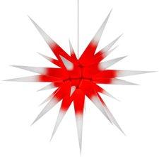 Herrnhuter Sterne I8 Kern rot - weiße Spitze (80 cm)