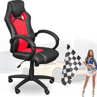 Terena Sportsitz Bürostuhl Racing-Design schwarz-rot