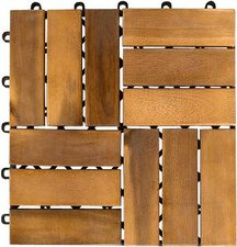 stilista Holzfliese Akazie geölt 30 x 30 cm (11 Stück)