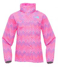 The North Face Girl's Dottie Resolve Jacket Linaria Pink Print