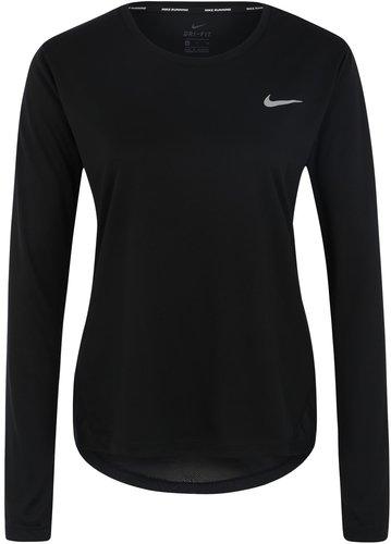 Nike Miler Damen Laufshirt schwarz