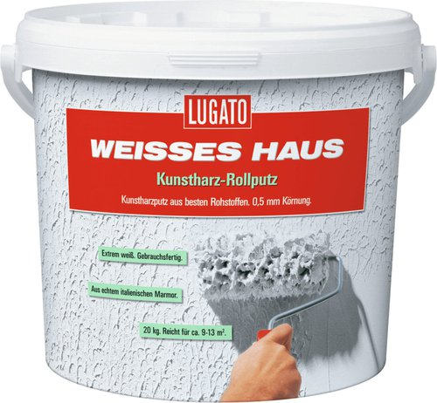 Lugato Weisses Haus Kunstharz Rollputz 8 kg