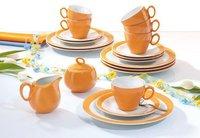 Seltmann Weiden Trio orange Kaffeeservice 20 tlg.