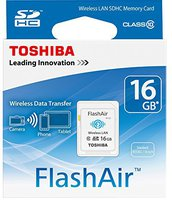 Toshiba SDHC FlashAir W-02 WiFi 16GB Class 10 (SD-F16AIR(BL8)