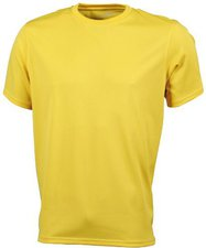 James & Nicholson Men's Active T gelb