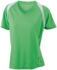 James & Nicholson Ladies' Running-T Atmungsaktives Laufshirt grün