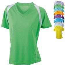 James & Nicholson Ladies' Running-T Atmungsaktives Laufshirt gelb