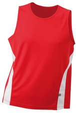 James & Nicholson Men's Running Tank JN305 rot