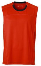 James & Nicholson Men's Running Tank (JN470) Grenadine