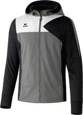 Erima Kinder Premium One Trainingsjacke mit Kapuze granit/schwarz/weiß