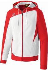 Erima Kinder Club 1900 Trainingsjacke mit Kapuze weiß/rot