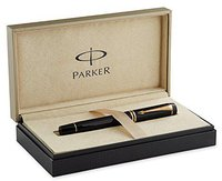 Parker Duofold Black Fountain Pen Fine 18K gold nib