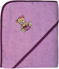 Wörner Kapuzen-Badetuch (100 x 100) Teddy rosa