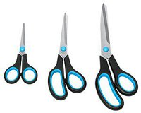 Westcott Scissors Scheren-Set Easy Grip schwarz/blau