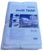 Lankotex PE-Gewebeplane Multi Tarp 3 x 5m weiß (150g/m²)