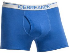 Icebreaker Anatomica Boxers with fly cadet / white
